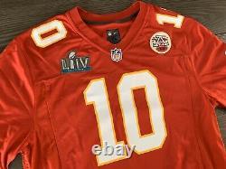 Kansas City Chiefs Super Bowl LIV Patch Nike Jersey Tyreek Hill RARE NWT
