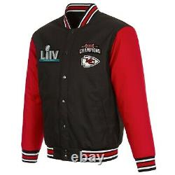 Kansas City Chiefs Varsity LIV Super Bowl Champions Black/Red Poly-Twill Jacket