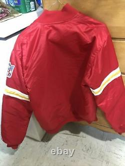 Kansas City Chiefs Vintage 90s Satin Starter Jacket Red Size Medium EUC Rare
