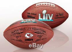 Kansas City Chiefs Wilson Duke Super Bowl 54 Champions Game Football