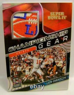 Len Dawson #1 /2 Super Bowl IV Gear Relic Panini Spectra Football 2020 Woow Rare