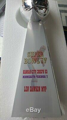 Lombardi REPLICA Kansas City Chiefs FOOTBALL SUPER BOWL TROPHY CHROME