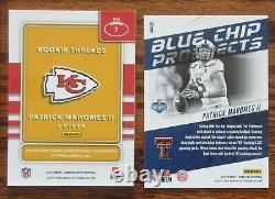 Lot Of 7 Patrick Mahomes Rookie Cards 2017 Kansas City Chiefs Mvp Super Bowl