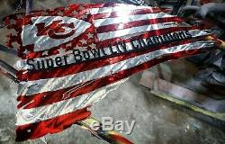 Metal Superbowl Kansas City Chiefs Flag 29x16