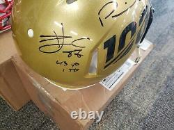 NFL Kansas City Chiefs Signed Gold Helmet Super Bowl LE 14/19 Mahomes Hill Kelce
