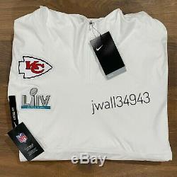 Nike Kansas City Chiefs Mens Super Bowl LIV 54 Media Night Hooded Jacket