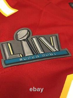 Nike Kansas City Chiefs Patrick Mahomes Mens Red Super Bowl Game Jersey 2XL XXL