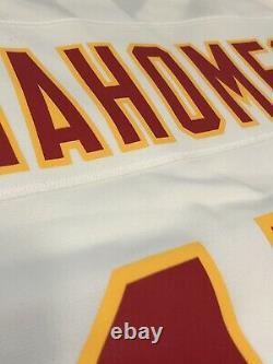 Nike Kansas City Chiefs Patrick Mahomes Mens White Super Bowl Game Jersey XL