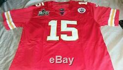 Nike Kansas City Chiefs Patrick Mahomes Super Bowl 54 LIV Patch Jersey Red