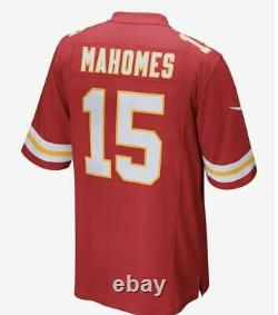 Nike Kansas City Chiefs Patrick Mahomes Super Bowl 54 LIV Patch Jersey red kc S