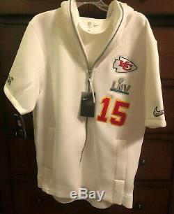 Nike Kansas City Chiefs Patrick Mahomes Super Bowl LIV Media Day Hoodie Lg