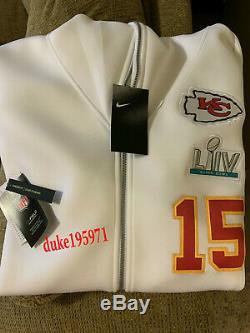 Nike Patrick Mahomes Kansas City Chiefs Super Bowl LIV Media Showout Hoodie-XL