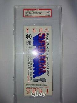 Original Authentic1970Super BowlIV4ChiefsVikingsFull TicketPSA SlabHTF