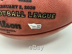 PATRICK MAHOMES Autographed Chiefs Official Super Bowl LIV Football FANATICS