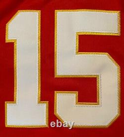 Patrick Mahomes #15 KC Chiefs Red Super Bowl 54 Champions Jersey Large