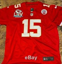 Patrick Mahomes #15 KC Chiefs Red Super Bowl 54 Jersey Large