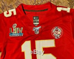 Patrick Mahomes #15 KC Chiefs Red Super Bowl 54 Jersey Medium
