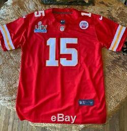 Patrick Mahomes #15 KC Chiefs Red Super Bowl 54 Jersey XL