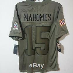 Patrick Mahomes 19 Salute To Service Kansas City Chiefs MVP Jersey Small S Rare