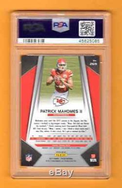 Patrick Mahomes 2017 Prizm Silver Rookie Rc Psa 8 Chiefs Super Bowl Mvp Hot