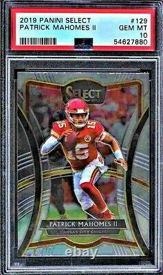 Patrick Mahomes 2019 Select #129 PSA 10 Gem Mint KC Chiefs PRICED TO SELL