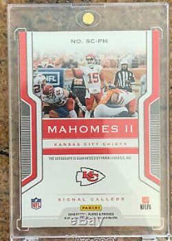 Patrick Mahomes AUTO /25 SP Autograph On Card Kansas City Chiefs Super Bowl Hot