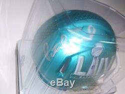 Patrick Mahomes Autographed Mini Super Bowl Helmet COA Kansas City Chiefs