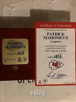 Patrick Mahomes Danbury Mint 9 Kansas City Chiefs SUPER BOWL MVP FIGURINE NIB