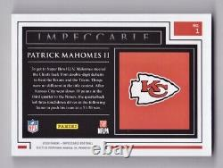 Patrick Mahomes II Silver Troy Oz /20 2020 Panini Impeccable 1 Super Bowl Chiefs