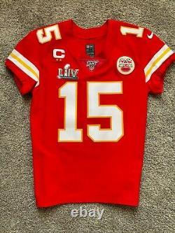 Patrick Mahomes Kansas City Chiefs Authentic Jersey and Super Bowl LIV Patch