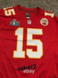 Patrick Mahomes Kansas City Chiefs Nike Super Bowl LIV Jersey 54 S 3XL