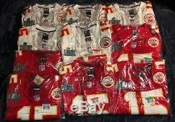 Patrick Mahomes Kansas City Chiefs Super Bowl 54 LIV Patch Jersey Red & White