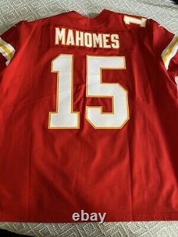 Patrick Mahomes Kansas City Chiefs Super Bowl LIV nike elite jersey size 56