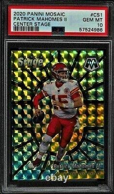 Patrick Mahomes Panini Mosaic Center Stage PSA 10 Stained Glass Style Card #CS1