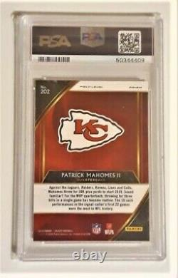 Patrick Mahomes Select Field SILVER Prizm #202 PSA 10 Gem Mint Beautiful Card