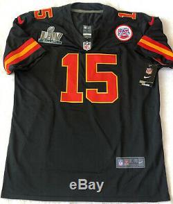 Patrick Mahomes Signed Kansas City Chiefs #15 Super Bowl LIV Nike Jersey Coa