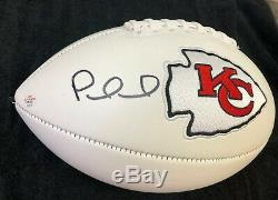 Patrick Mahomes / Superbowl Mvp / Autographed Chiefs White Panel Football / Coa