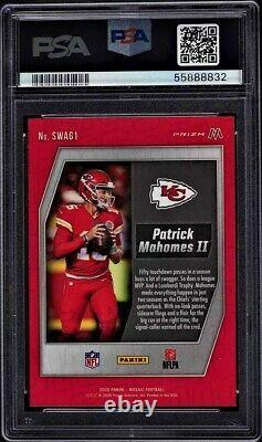 Patrick Mahomes Swagger PSA 10 Panini Mosaic SWAG1 Refractor Insert Card LOW POP