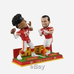 Patrick Mahomes & Travis Kelce Kansas City Chiefs Dual Passing Bobblehead