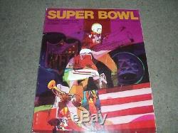 Rare 1970 IV Superbowl Programme Kansas City Chiefs V Minnesota Vikings 11th Jan