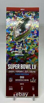 SUPER BOWL LV 55 Ticket Stub Kansas City Chiefs vs Tampa Bay Buccaneers 2/7/21