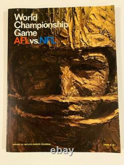 Super Bowl 1 World Championship Game AFL vs NFL Program 1967 Packers Chiefs