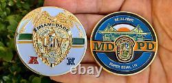 Super Bowl 54 LIV Miami Dade Police Kansas City KC Chiefs Challenge Coin Mahomes