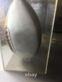 Super Bowl IV 1970 Champion Kansas City Chiefs team autographed football