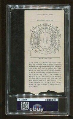 Super Bowl IV 4 Ticket 1970 Chiefs v Vikings Len Dawson MVP Tulane Stadium PSA 2