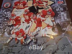 Super Bowl IV Kansas City Chiefs Signed 24x36 Art Print Stram Dawson Ap #ed