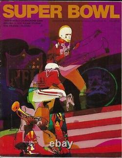 Super Bowl IV Program 1/11/1970 Kansas City Chiefs Minnesota Vikings Nice