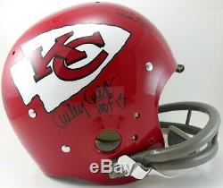 Super Bowl IV Signed Helmet 5 HOF Chiefs Len Dawson Bobby Bell team JSA