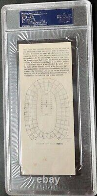 Super Bowl I Full Ticket PSA 4 Gold Packers Chiefs