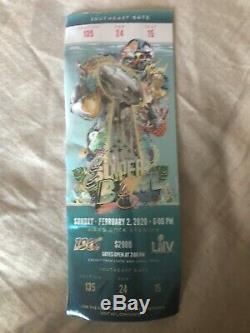 Super Bowl LIV 54 Full Ticket Stub 2/2/20 Feb 2 2020 Chiefs 49ers